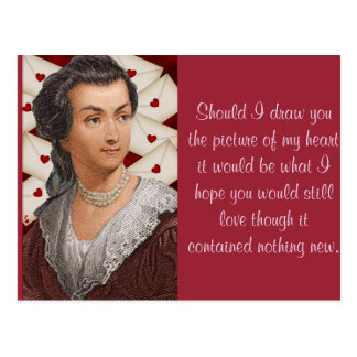 Cartão Postal Cartas de amor de Abigail Adams