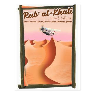 Cartão Postal Cartaz das férias de Khali Arábia Saudita do al de