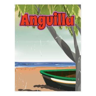 Cartão Postal Cartaz das viagens vintage de Anguilla