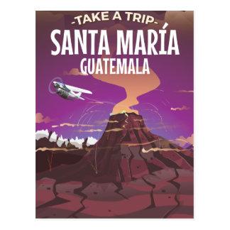 Cartão Postal Cartaz das viagens vintage de María Guatemala do
