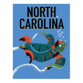 Cartão Postal Cartaz das viagens vintage de North Carolina