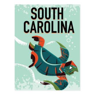 Cartão Postal Cartaz das viagens vintage de South Carolina