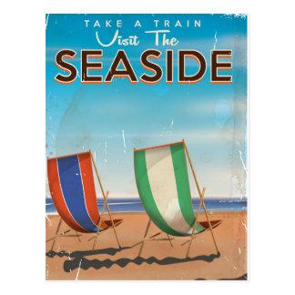 Cartão Postal Cartaz do beira-mar do viagem de Ingleses do