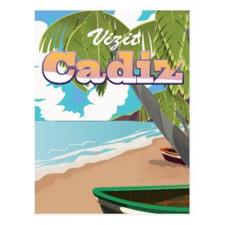 Cartão Postal Cartaz do viagem da espanha de Cadiz