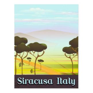 Cartão Postal Cartaz do viagem da paisagem de Siracusa Italia