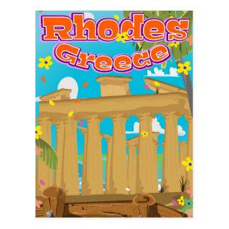 Cartão Postal Cartaz do viagem da piscina do Rodes