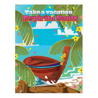 Cartão Postal Cartaz do viagem das férias de Espiritu Santo