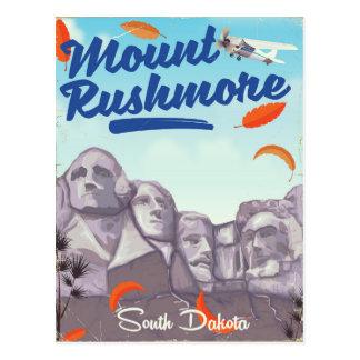 Cartão Postal Cartaz do viagem do estilo do vintage do Monte