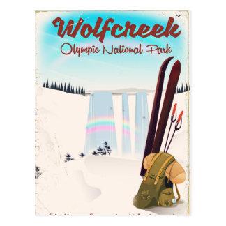 Cartão Postal Cartaz olímpico do viagem do parque nacional de