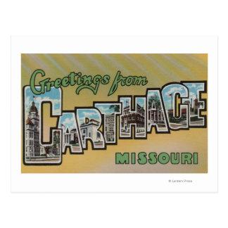 Cartão Postal Carthage, Missouri - grandes cenas da letra