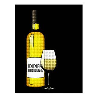 Cartão Postal casa aberta/housewarming: vinho de intervalo
