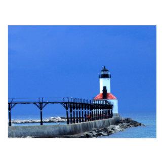 Cartão Postal Casa clara do Lago Michigan