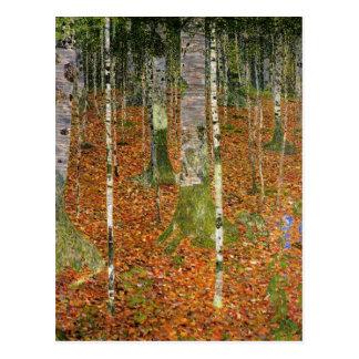 Cartão Postal Casa da quinta com árvores de vidoeiro