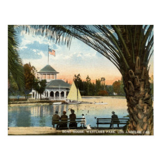 Cartão Postal Casa de barco, vintage 1914 de Los Angeles do