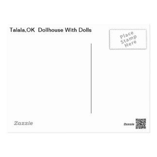 Cartão Postal Casa de boneca de Talala com bonecas