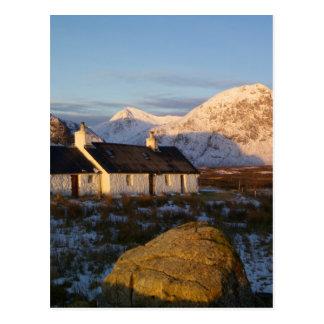 Cartão Postal Casa de campo de Blackrock, Glencoe, montanhas,
