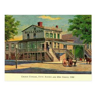 Cartão Postal Casa de campo do Croton, quinta & 40th, Nova
