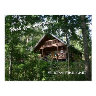 Cartão Postal Casa de campo do verão de Finlandia