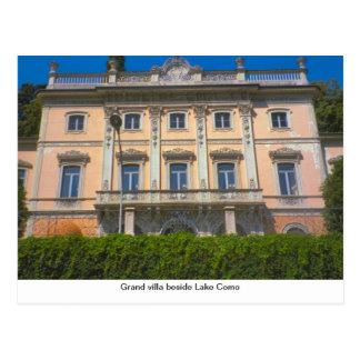 Cartão Postal Casa de campo grande ao lado do lago Como