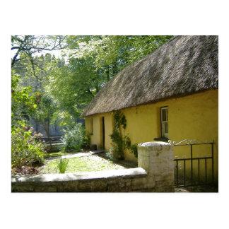 Cartão Postal Casa de campo Thatched no parque popular de