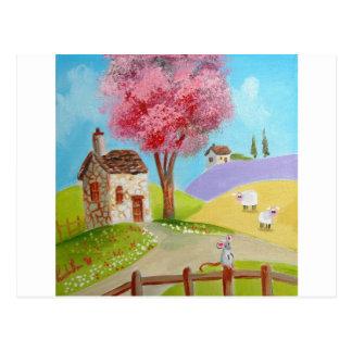 Cartão Postal Casa de campo velha dos carneiros do rato da