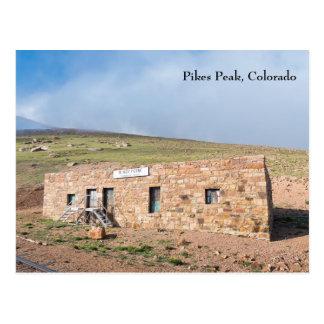 Cartão Postal Casa de estação no pico dos piques