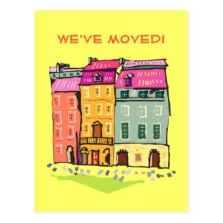 Cartão Postal Casa de fileira nós movemos a mudança da casa nova