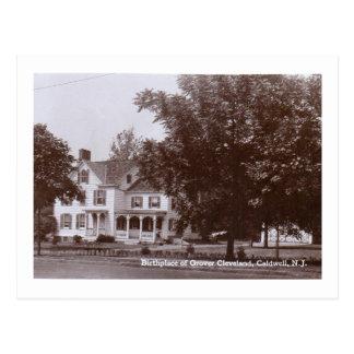 Cartão Postal Casa de Grover Cleveland, Caldwell, vintage de NJ