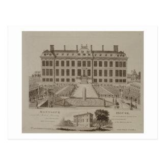 Cartão Postal Casa de Montague, agora British Museum, 1813 (engr