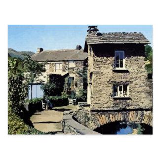 Cartão Postal Casa de ponte velha Ambleside Cumbria Inglaterra