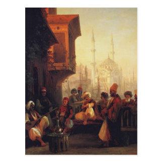 Cartão Postal Casa do Aivazovsky-Café de Ivan pela mesquita de