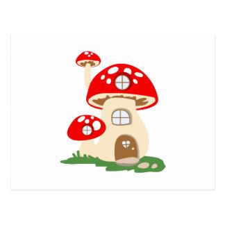 Cartão Postal Casa do cogumelo