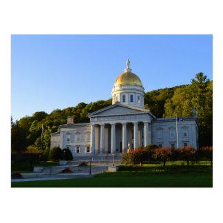 Cartão Postal Casa do estado de Vermont, Montpelier