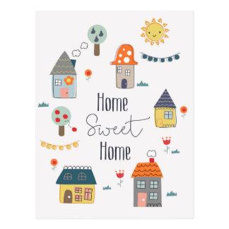 Cartão Postal Casa doce Home