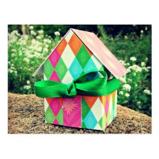 Cartão Postal Casa doce Home, brilhante, retro, kitsch,
