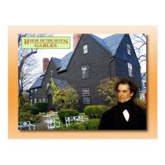 Cartão Postal Casa dos sete frontões, Salem, Massachusetts