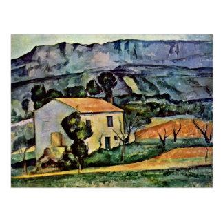 Cartão Postal Casa em Provence por Paul Cézanne (a melhor