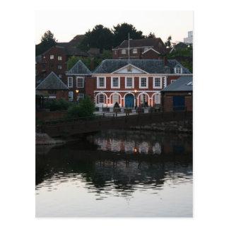 Cartão Postal Casa feita sob encomenda, o cais, Exeter, Devon,