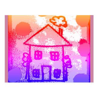 Cartão Postal Casa feliz