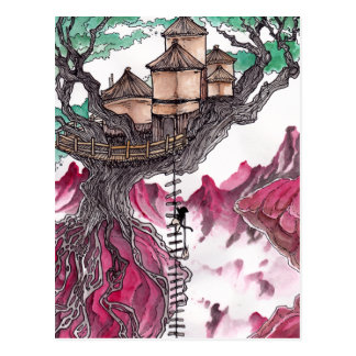 Cartão Postal Casa na árvore