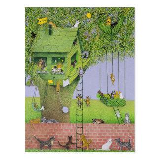 Cartão Postal Casa na árvore do gato