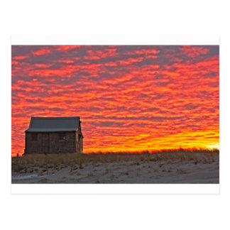 Cartão Postal Casa no por do sol - 2