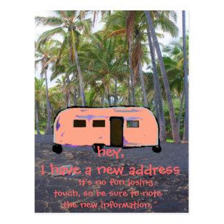 Cartão Postal Casa nova da palmeira havaiana retro do reboque