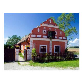 Cartão Postal Casa sul tradicional de Boémia