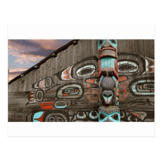 Cartão Postal Casa tribal de Chilkat