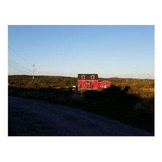 Cartão Postal Casa vermelha pequena