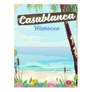 Cartão Postal Casablanca Marrocos, poster vintage romântico