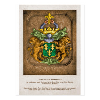 Cartão Postal Casaco da família de Westerfield de braços