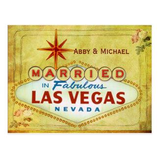 Cartão Postal Casado em Las Vegas fabuloso - vintage