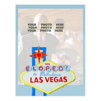 Cartão Postal Casado no azul do anúncio da foto de Las Vegas